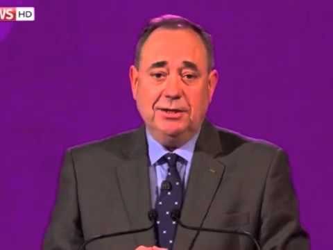 Alex Salmond urges voters to vote yes.