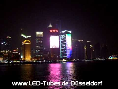 LED Mega Screen Display Front Fassade Video Building Shanghai / China