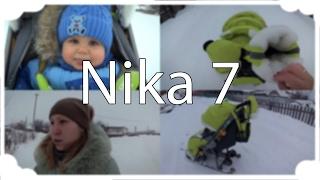 Обзор санок-коляски Nika 7 + прогулка :)