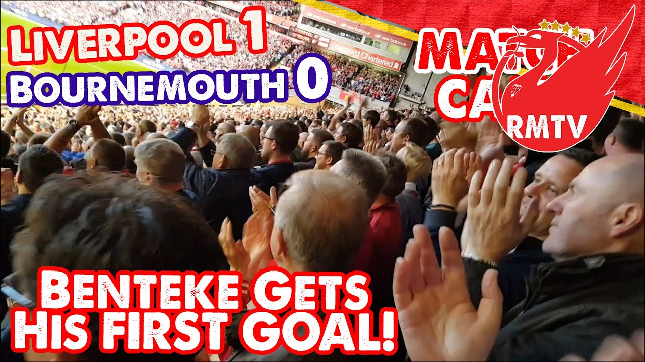 Liverpool Vs Bournemouth Totalsportek: Benteke Gets His First Goal!