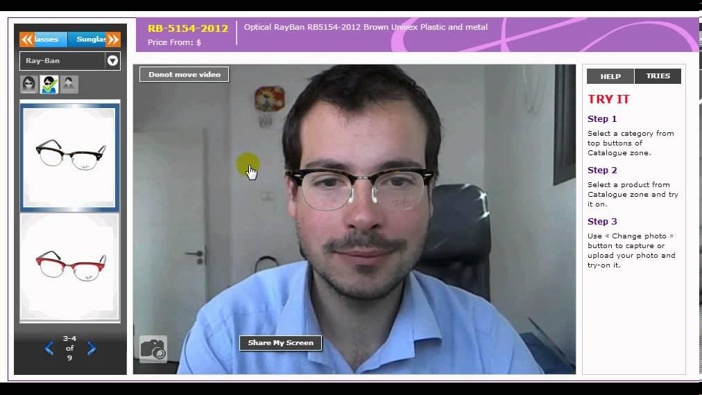 2f9247066b1 VirtualTRY Mirror Eyewear by Live Webcam - YouTube