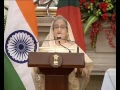PM Shri Narendra Modi & Bangladesh PM Sheikh Hasina at the Joint Press Statements in New Delhi