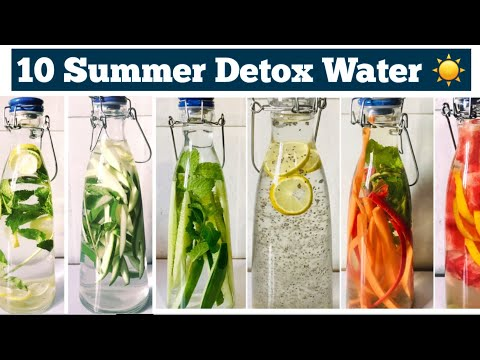 10 Detox Water For Weight Loss | Summer Infused water to lose belly fat, Cleanse & Debloat | Hindi