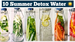 10 Detox Water For Weight Loss | Summer Infused water to lose belly fat, Cleanse & Debloat | Hin