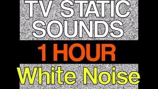 "1 Hour of TV Static Noise 60 Minutes HD 1080p ""TV Static Sounds"" ""Sleep Video"""
