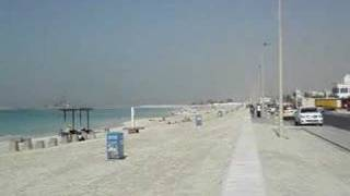 360° view of the beach near the Burj Al Arab in Dubai