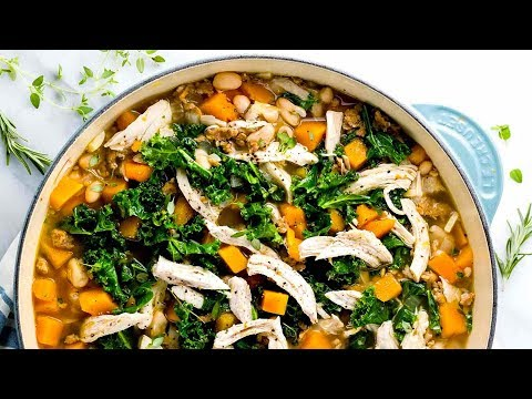 Butternut Squash Soup With Chicken