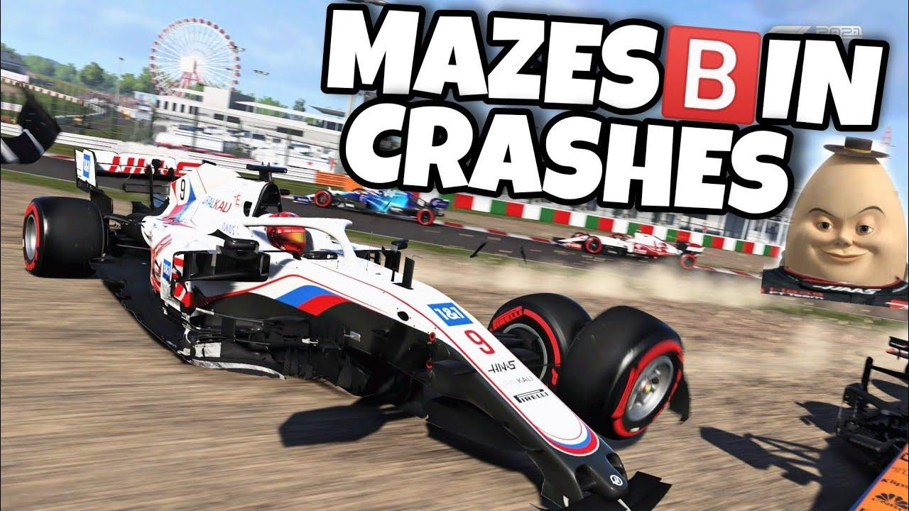 F1 2021 MAZESBIN CRASHES
