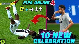 FIFA online 4 Celebration ~ Top 10 New Style Celebration Tutorial (Mask,Workout.../Keyboard) .