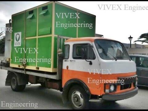 Mobile Pyrolysis Plant - pyrolysis  process - waste to energy - waste tyre -ocean plastic MPP Vivex