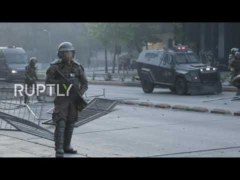 Chile: Clashes Erupt At Santiago Protests Over Transport Fare Hikes