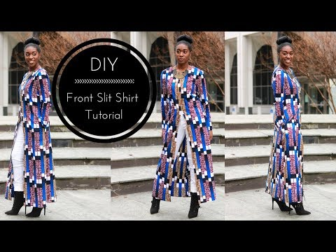 DIY   How To   Front Slit Shirt Tutorial Part 2