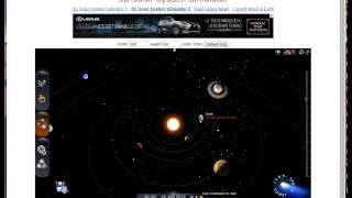 Applications avec Potentiel Pédagogique - 3D Solar System Simulator
