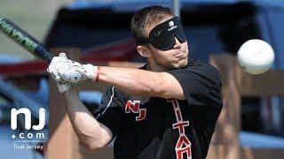 Playing baseball blind