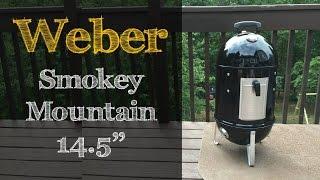 weber smokey mountain 14 5   unboxing and setup