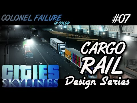 Cities Skylines After Dark #7 : Train Station for Cargo (Design Series)