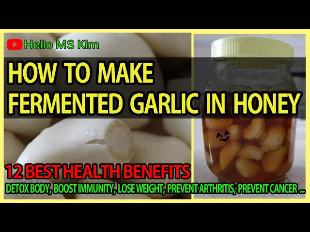Natural Remedy Garlic Honey Fermented Recipe How To Make Fermented Honey Garlic Youtube