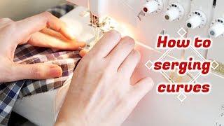 How to Serge Curves / Sewing Hacks, Tips, Tricks / DIY TUTORIALㅣmadebyaya