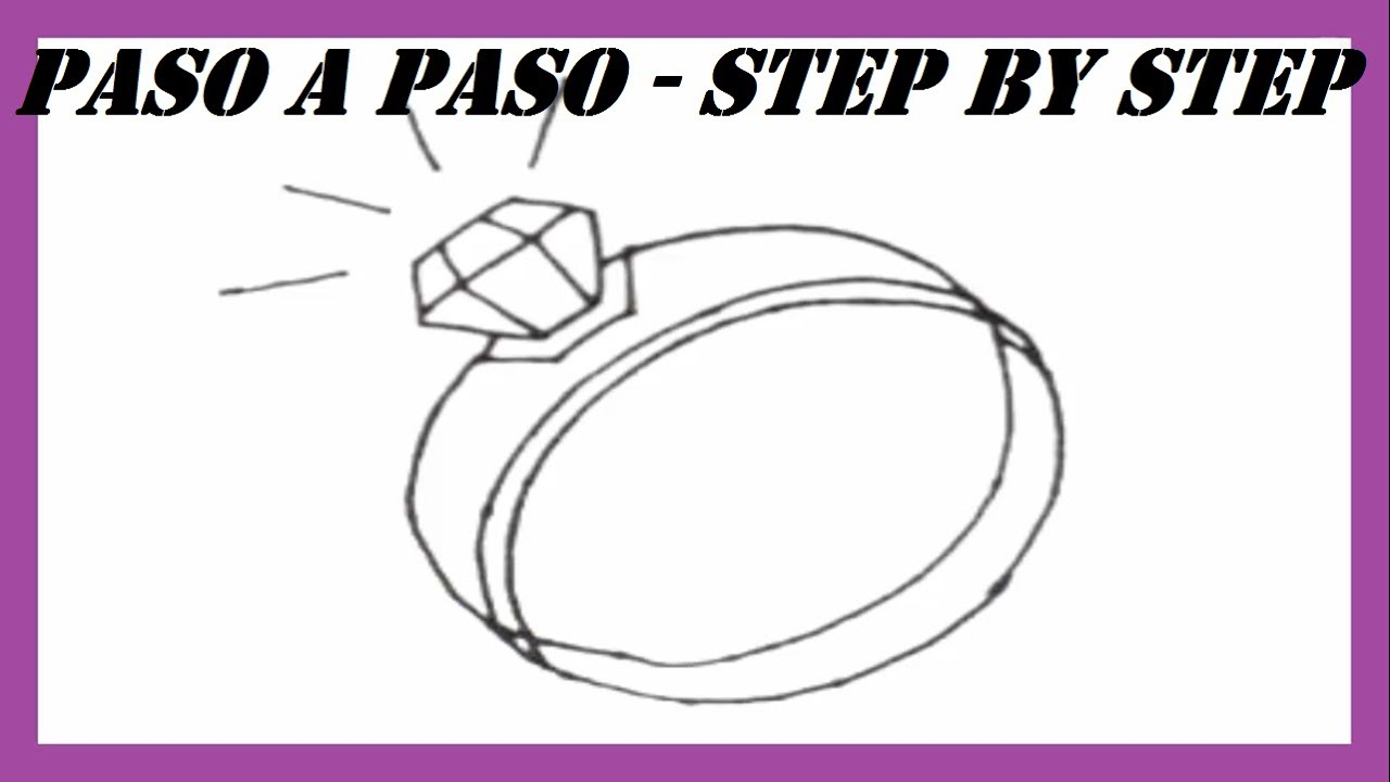 Como dibujar un anillo paso a paso l how to draw a ring for Comedor facil de dibujar