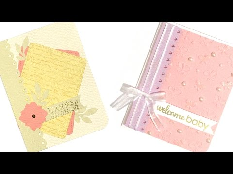 1 Layout, 2 Cards | Thanks & Welcome Baby