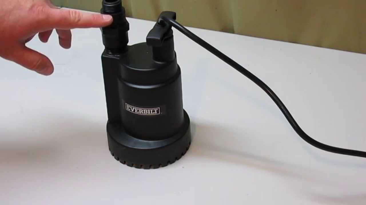 Everbilt 1 6 Hp Submersible Utility Pump Youtube