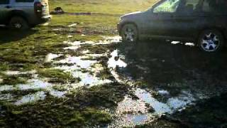 Bmw X5 vs Land Rover Discovery 3- off road Romania
