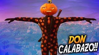 DON CALABAZO!! NEW SKIN ? FORTNITE Battle Royale ? Rubinho vlc