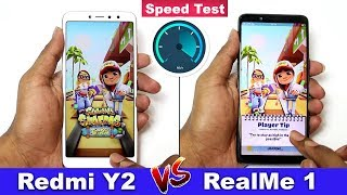 Redmi Y2 vs Realme 1 Speed Test Comparison || in Telugu