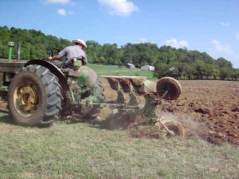720 John Deere Plowing With 825 Two Way Plow