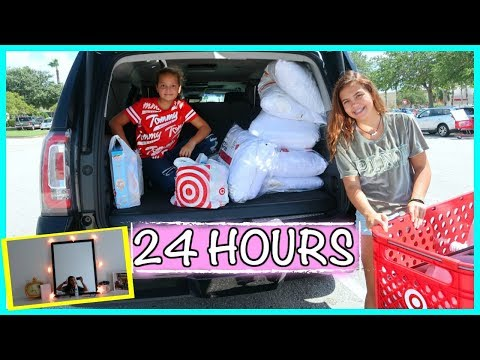 REDECORATING MY ROOM IN 24 HOURS | SISTERFOREVERVLOGS #563