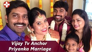 Vijay Tv Anchor Priyanka Marriage | Praveen | Super Singer | Vj Priyanka Wedding video