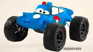 Cars 3 Lightning McQueen PAW PATROL Play Doh Stop Motion video Disney Pixar Cars Toys kids play time