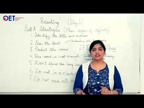 Online OET | OET Reading Material | Day 1