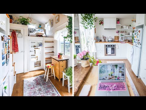 Incredible Beautiful Woman's Dream Tiny House   Wonderfully Designed Home