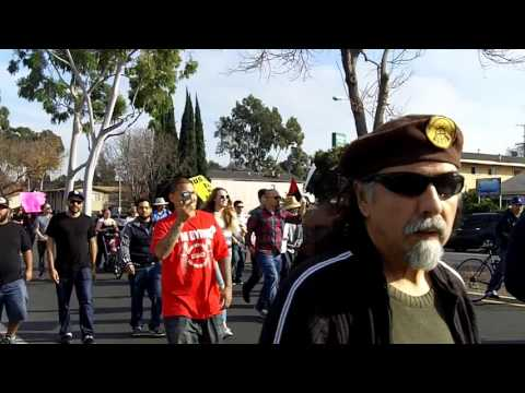 Justice For Noel Aguilar March Begins on Artesia Blvd (Long Beach, CA, 1/16/2016)