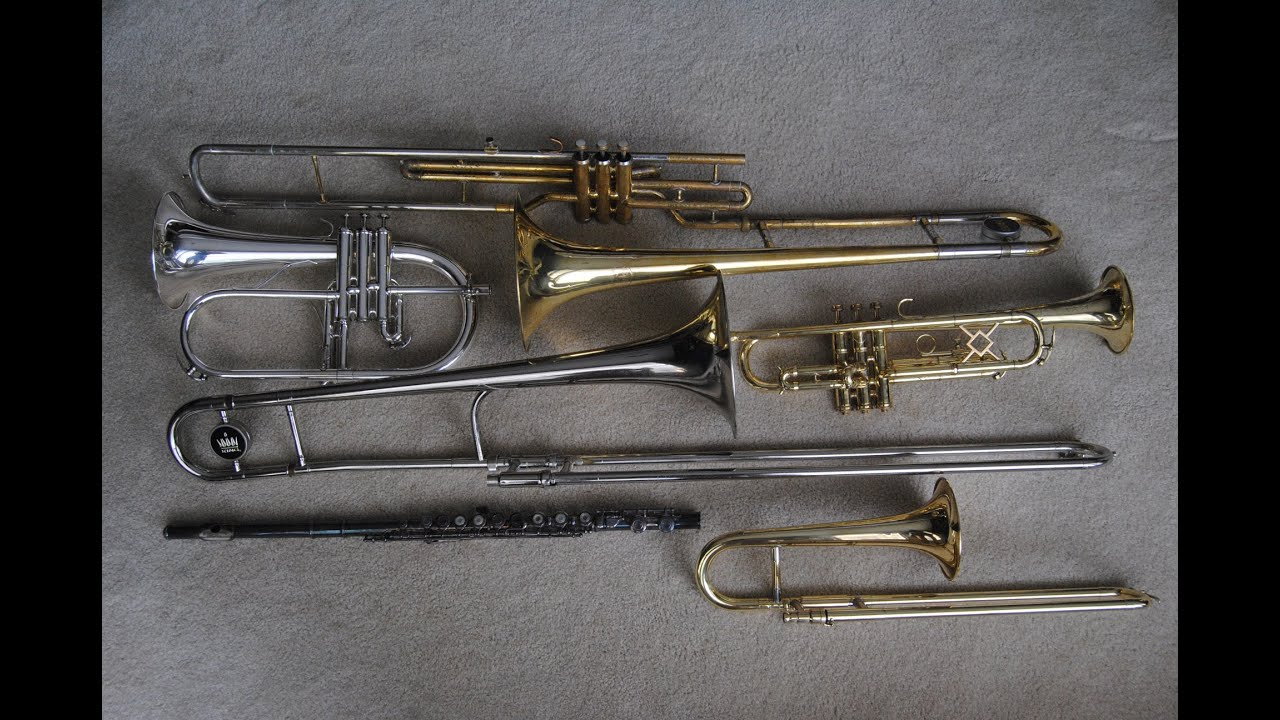 maxresdefault comparison trumpet, slide trumpet, valve trombone, slide trombone