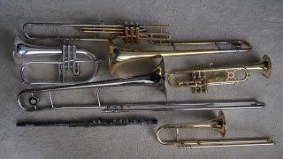 Comparison: Trumpet, Slide Trumpet, Valve Trombone, Slide Trombone, Flute & Flugel
