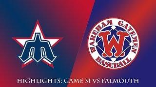 Gatemen Baseball Network Highlights: Wareham Gatemen vs. Harwich Mariners (7/15/18)