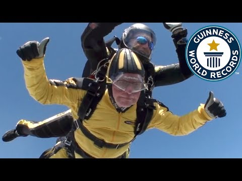 101-year-old parachute jumper – Guinness World Records