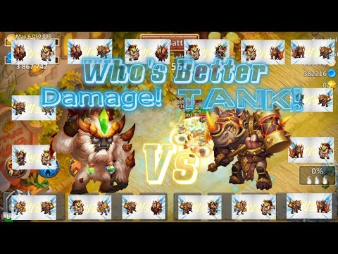 Sasquatch VS Rockno Who Is Better Tank & Damage? Castle Clash