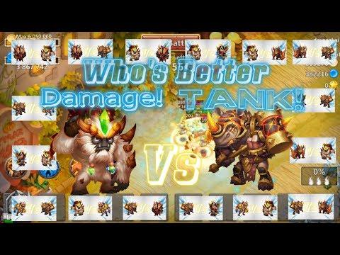 Sasquatch VS Rockno Who Is Better Tank & Damage? Castle Clash