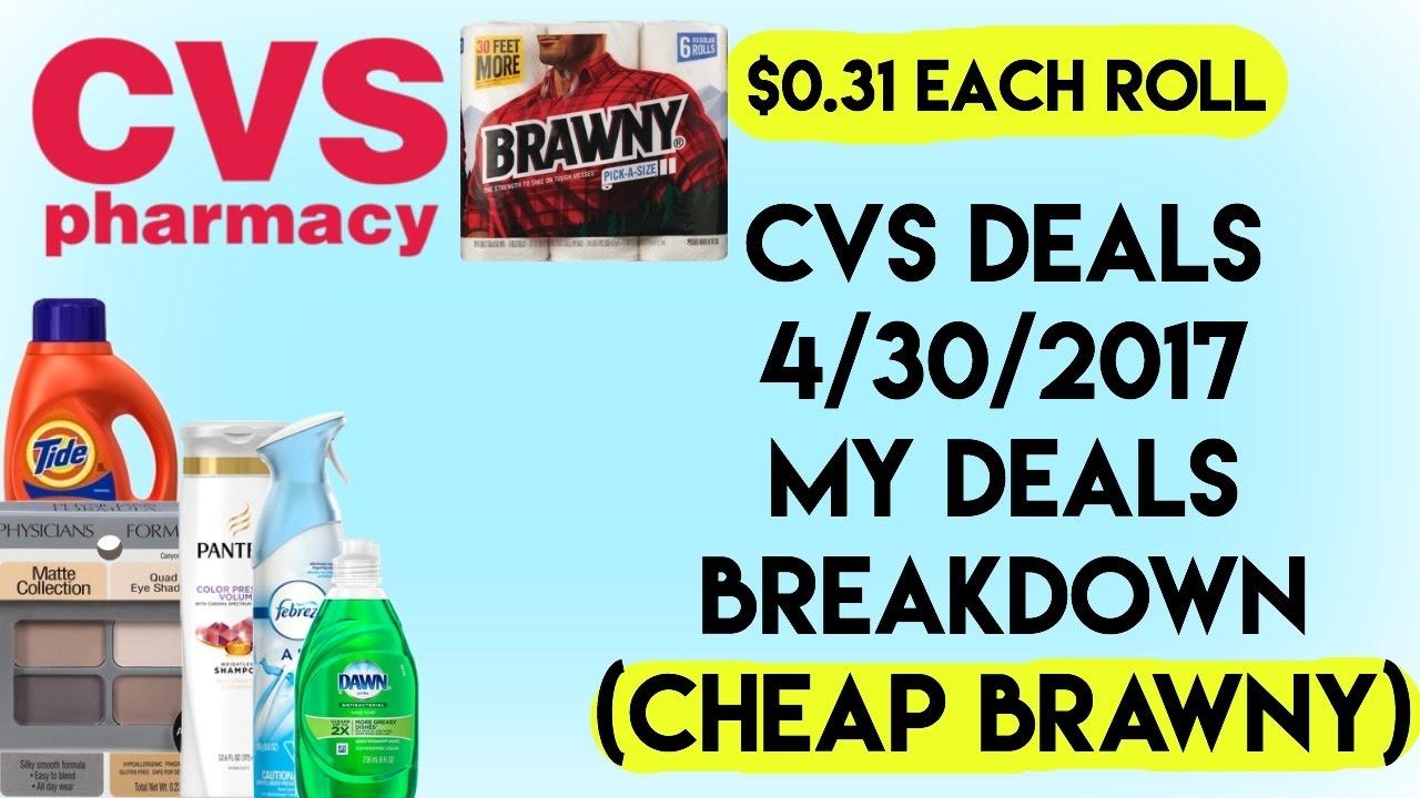 cvs deals 4 30 2017 my deals breakdown cheap brawny 0 31 each