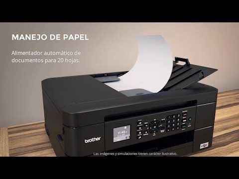 Product tour MFC-J480DW. Impresora multifunción de tinta WiFi con fax, doble cara automática y ADF