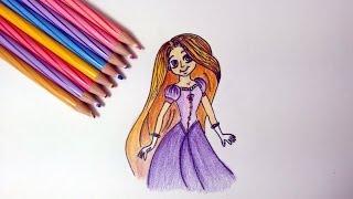 How to draw- Disney princess Rapunzel
