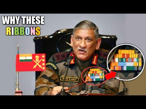 Meaning Behind Colorful Ribbons On Soldier's Uniform? Indian Army Service Ribbons - Military Ribbons