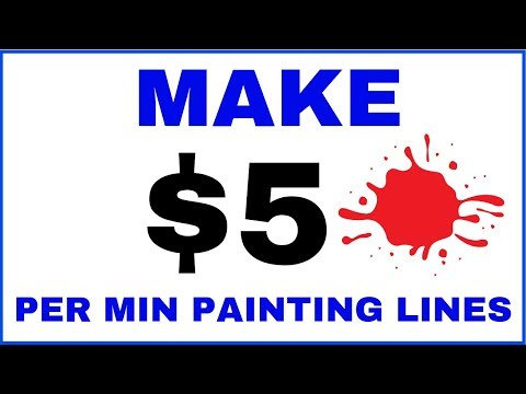 Make Money Painting Lines (Easy Online Jobs)