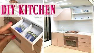 DIY Barbie Kitchen & Miniature Crafts