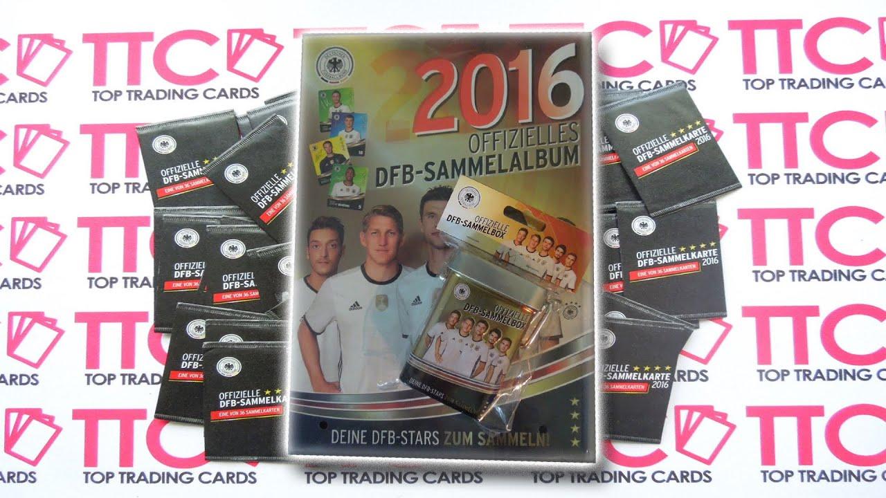 Rewe Dfb Sammelkarten Euro Em 2016 Squad Building Youtube