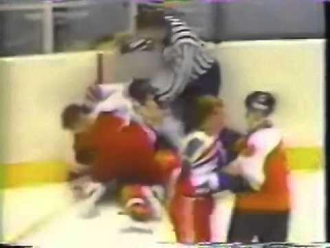 check out a823c beebc New York Rangers-Philadelphia Flyers brawl Oct 1, 1985