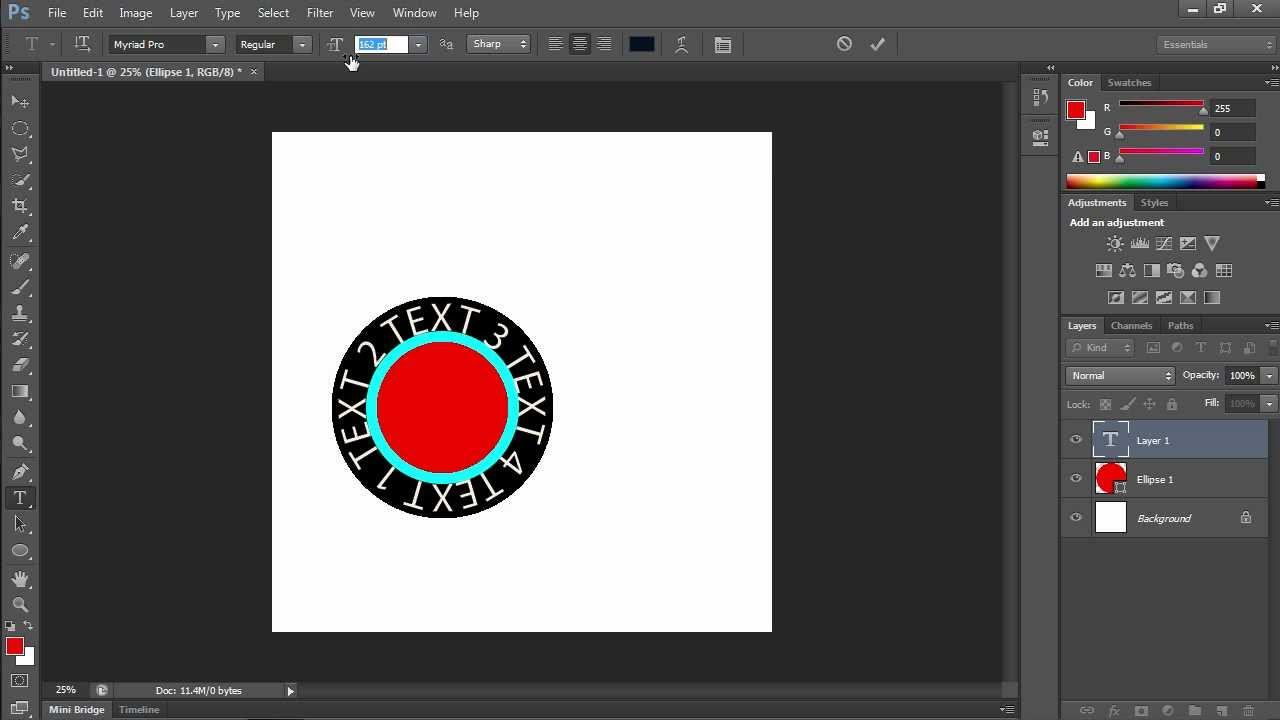 How to create round text in photoshop cs6 youtube how to create round text in photoshop cs6 baditri Choice Image